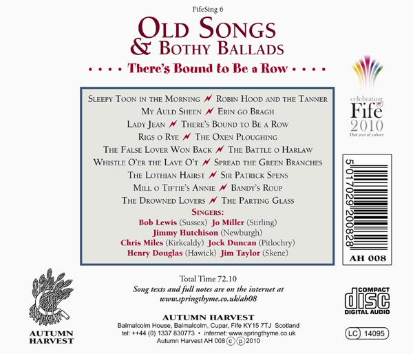 FifeSing6: Old Songs & Bothy Ballads: There's Bound to Be a Row